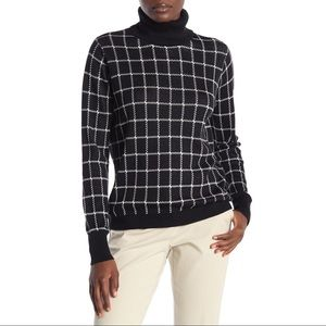 14th & Union Turtleneck Check Plaid Sweater